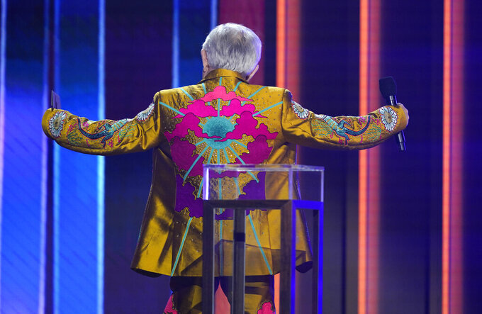 Leslie Jordan appears at the 56th annual Academy of Country Music Awards on Sunday, April 18, 2021, at the Grand Ole Opry in Nashville, Tenn. (AP Photo/Mark Humphrey)