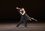 In this Saturday, Oct. 26, 2019, photo provided by the American Ballet Theatre, Erica Cornejo and Herman Cornejo perform in El Chamuyo during the celebration of Herman Cornejo's 20th Anniversary with American Ballet Theatre in New York.  Cornejo has been a favorite of New York ballet audiences ever since he set foot on the American Ballet Theatre stage 20 years ago. (Kyle Froman via AP)
