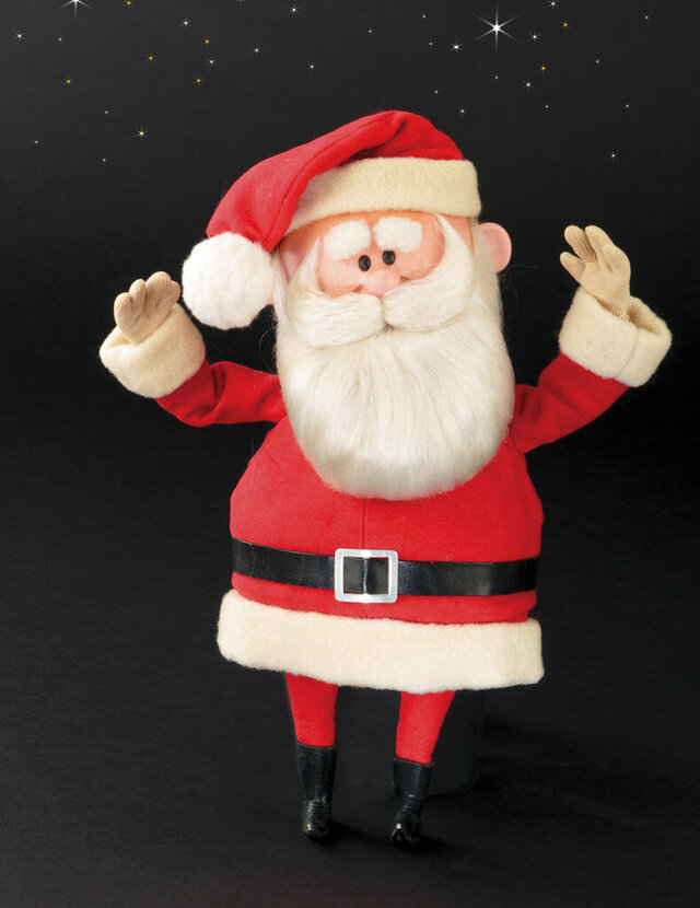 This image released by Profiles in History shows a Santa Claus puppet used in the filming of the 1964 Christmas special