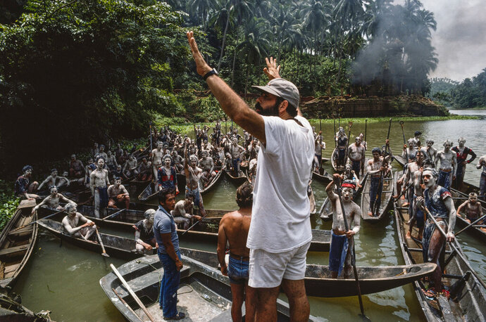 This image provided by Zoetrope Corp. shows director Francis Ford Coppola on location directing a scene in