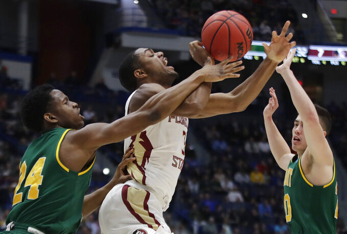 The Latest: Florida State pulls ahead of Vermont