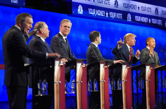 John Kasick, Mike Huckabee, Jeb Bush, Msrco Rubio, Donald Trump, Ben Carson