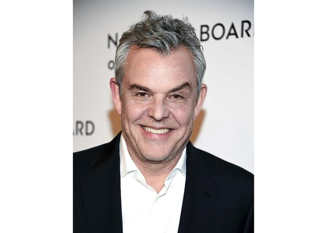 """FILE - Actor Danny Huston attends the National Board of Review awards gala in New York on  Jan. 8, 2019. Growing up in Ireland, one of his favorite memories was when his father, director John Huston, would bring out the projector and they'd gather around to watch his films. """"The Maltese Falcon"""" was always a highlight. Now the film  is celebrating its 80th anniversary. It's returning to theaters through Fathom Events for a limited engagement on Wednesday. (Photo by Evan Agostini/Invision/AP, File)"""