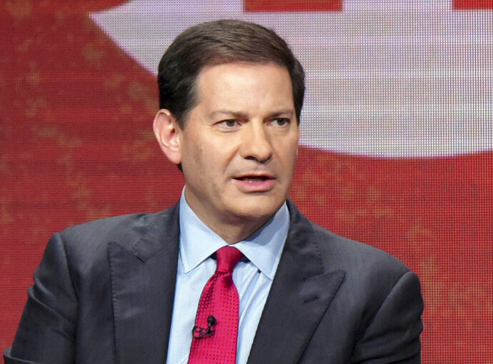 """FILE - In this Aug. 11, 2016, file photo, author and producer Mark Halperin appears at the Showtime Critics Association summer media tour in Beverly Hills, Calif. Halperin's book """"How to Beat Trump,"""" his first since his career was upended by allegations of sexual harassment, sold just 502 copies in its first week.  (Photo by Richard Shotwell/Invision/AP, File)"""