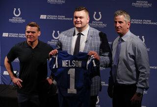 Quenton Nelson, Chris Ballard, Frank Reich