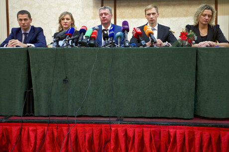 Yuri Borzakovsky, Yulia Tarasenko, Dmitry Shlyakhtin, Andrey Silnov, Marina Kuptsova