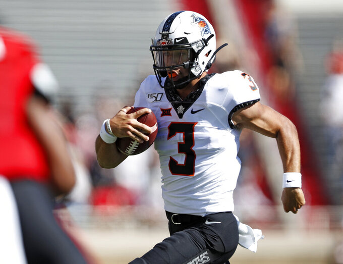 Duffey leads Texas Tech past No. 21 Oklahoma State 45-35