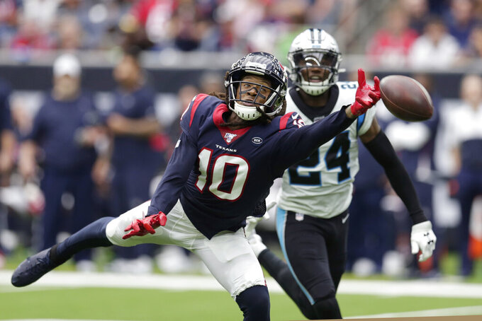 Texans can't capitalize on Carolina mistakes in 16-10 loss