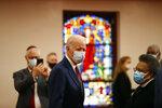Democratic presidential candidate, former Vice President Joe Biden visits Bethel AME Church in Wilmington, Del., Monday, June 1, 2020, (AP Photo/Andrew Harnik)
