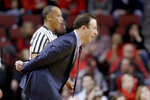 Minnesota coach Richard Pitino calls a play during the first half of an NCAA college basketball game against Nebraska in Lincoln, Neb., Wednesday, Feb. 13, 2019. (AP Photo/Nati Harnik)