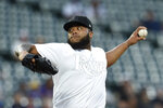 Tampa Bay Rays pitcher Jose Alvarado throws to Baltimore Orioles during the first inning of a baseball game Saturday, Aug. 24, 2019, in Baltimore. (AP Photo/Gail Burton)