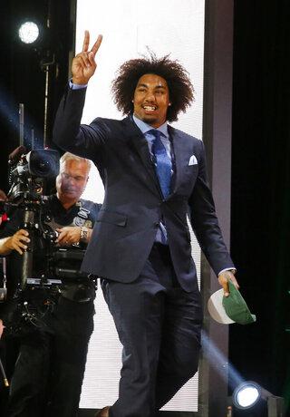 APTOPIX NFL Draft Football
