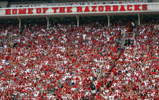 Arkansas-Guns Stadiums Football