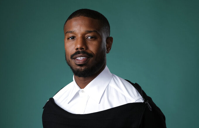 """FILE - Actor and producer Michael B. Jordan poses for a portrait during the 2019 Television Critics Association Summer Press Tour in Beverly Hills, Calif., on July, 26, 2019. Jordan stars in the new film """"Tom Clancy's Without Remorse."""" (Photo by Chris Pizzello/Invision/AP, File)"""