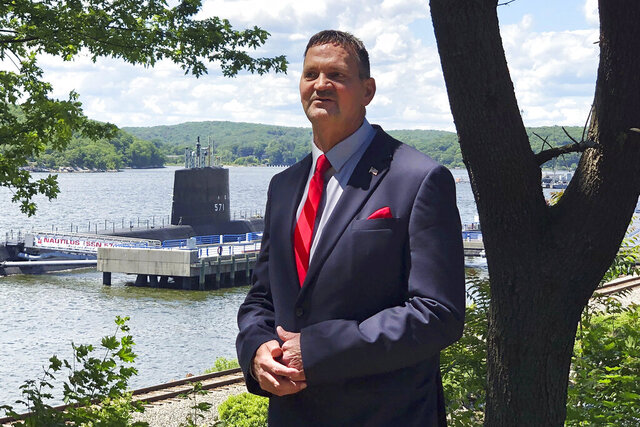 This undated photo, provided by his campaign, shows Justin Anderson, Republican candidate for the U.S. House of Representatives, in East Haddam, Conn. (Jason Calfo photo via AP)