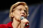 Democratic presidential candidate Elizabeth Warren speaks during the Iowa Democratic Party's Hall of Fame Celebration, Sunday, June 9, 2019, in Cedar Rapids, Iowa. (AP Photo/Charlie Neibergall)