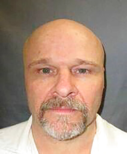 This undated handout photo provided by the Texas Department of Criminal Justice shows inmate Rick Rhoades. Rhoades faces execution Tuesday evening, Sept. 28, 2021, for fatally stabbing two Houston area brothers during a robbery in their home more than 30 years ago. (Texas Department of Criminal Justice via AP)
