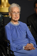FILE - In this Feb. 26, 2017, file photo, Katherine Johnson, the inspiration for the film,