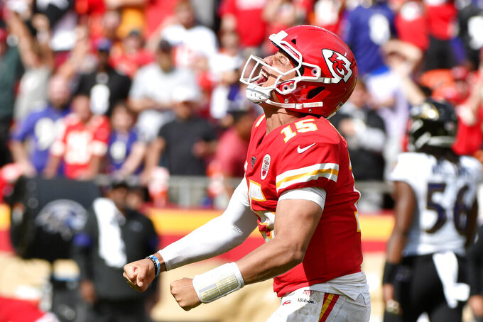 Chiefs' Patrick Mahomes more comfortable with his emotions
