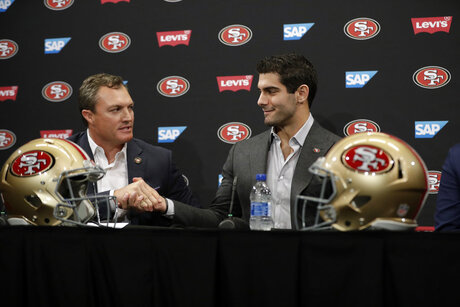 Jimmy Garoppolo, John Lynch