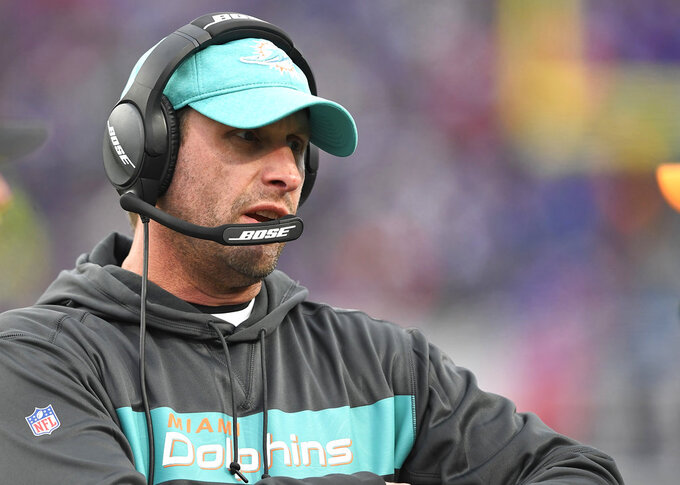 AP source: Jets hire former Dolphins coach Adam Gase