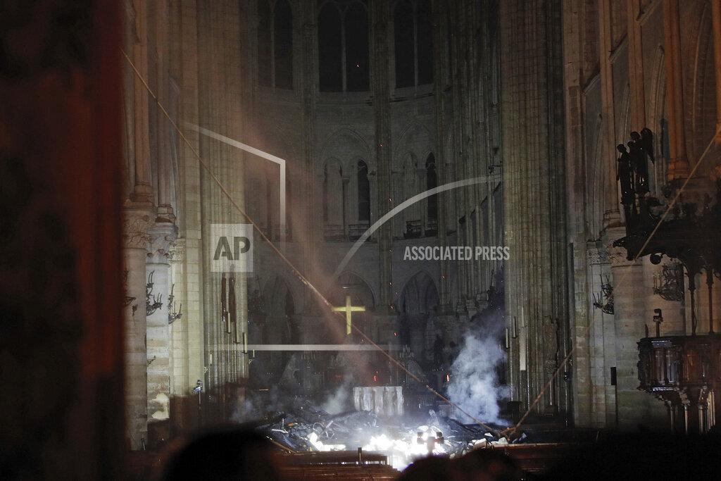 President Macron Visits The Site Of Notre Dame - Paris