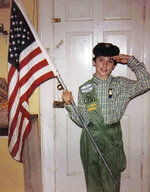 This 1985 photo, provided in New York, Tuesday Aug. 4, 2020, shows Girl Scout Alice Weiss-Russell, age 14. As a Girl Scout growing up in upstate New York, Alice Weiss-Russell says she lived with a dark secret: The husband of her troop leader was sexually abusing her in the bathroom of a church basement where scout meetings were held in the 1980s. She has detailed her alleged ordeal in a new lawsuit filed against Girl Scouts of the USA, part of a flurry of child sex-abuse cases in New York using a