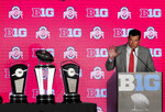 Ohio State head coach Ryan Day responds to a question during the Big Ten Conference NCAA college football media days Thursday, July 18, 2019, in Chicago. (AP Photo/Charles Rex Arbogast)