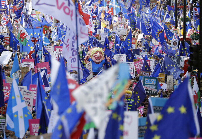 Anti-Brexit remain in the European Union supporters take part in a