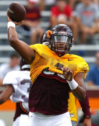Virginia Tech Practice Football