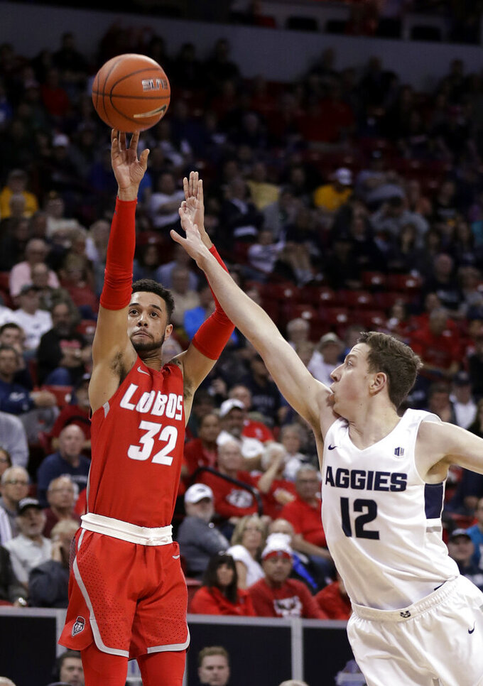 Merrill's 23 lifts Utah St. over Lobos 91-83 in MWC tourney