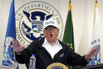 FILE - In this Jan. 10, 2019, file photo, President Donald Trump speaks at a roundtable on immigration and border security at U.S. Border Patrol McAllen Station, during a visit to the southern border in McAllen, Texas. President Trump appears to be ignoring a deadline to establish how many refugees will be allowed into the United States in 2021, raising uncertainty about the future of the 40-year-old resettlement program that has been dwindling under the administration. The 1980 Refugee Act requires presidents to issue their determination before Oct. 1, 2020, the start of the fiscal year. (AP Photo/Evan Vucci, File)