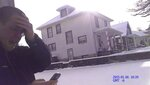 In this Jan. 6, 2015, still frame taken from police body camera video, Gabe Steele, left, reacts after his wife, Autumn Steele, was accidentally shot and killed by a Burlington Police officer responding to a domestic dispute call near the couple's home in Burlington, Iowa. Accidental shootings by police happen across the United States every year, an Associated Press investigation has found. (Burlington Police Department via AP)