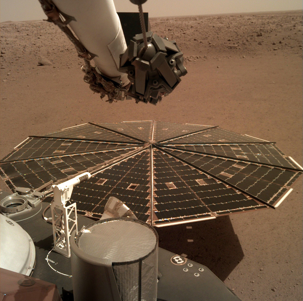 InSight lander captures 1st sounds of Martian wind