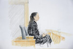 In this court sketch, Meng Wanzhou, chief financial officer of Huawei, is pictured in B.C. Supreme Court in Vancouver, British Columbia, Monday, Jan. 20, 2020. The first stage of an extradition hearing for the senior executive of Chinese tech giant Huawei started in a Vancouver courtroom Monday, a case that has infuriated Beijing, caused a diplomatic uproar between China and Canada and complicated high-stakes trade talks between China and the United States. (Jane Wolsak/The Canadian Press via AP)