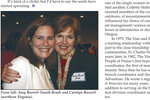 In this page from the May 2006 issue of Vine and Branches produced by People of Praise, Amy Coney Barrett is seen at left in the photo at a People of Praise Leaders' Conference for Women in 2006. Barrett, President Donald Trump's nominee for the U.S. Supreme Court, has close ties to People of Praise, a charismatic Christian religious group that holds men are divinely ordained as the