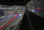 Red Bull driver Max Verstappen of the Netherlands steers his car during the qualifying session for the upcoming Russian Formula One Grand Prix, at the Sochi Autodrom circuit, in Sochi, Russia, Saturday, Sept. 26, 2020. The Russian Formula One Grand Prix will take place on Sunday. (AP Photo/Pavel Golovkin, Pool)