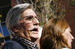 FILE - In this Dec. 5, 2008, file photo, Fred Goldman, father of Ron Goldman, who was murdered in 1994, speaks to reporters after O.J. Simpson's sentencing hearing outside the Clark County Regional Justice Center in Las Vegas. Fred Goldman has relentlessly pursued O.J. Simpson through civil courts, maintaining it is the only way to achieve justice for his son. Goldman's family has seized some of Simpson's memorabilia, including his 1968 Heisman Trophy as college football's best player that year. (Isaac Brekken/Pool Photo via AP, File)