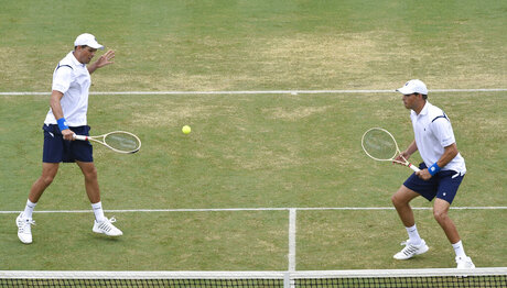 -Bryan Brothers Out Tennis