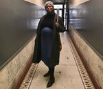 This Feb 1, 2020 photo provided Maureen Nicol shows her in Harlem, N.Y.  Nicol, a single Columbia University PhD student pregnant with her first child, will be giving birth out of state, not as planned. She spent months planning to give birth in April at a Manhattan hospital with the assistance of a doula. But during a visit this month to her family's Maryland home, New York became the nation's coronavirus epicenter and she canceled plans to return. (Courtesy of Maureen Nicol via AP)