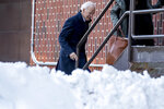 Democratic presidential candidate former Vice President Joe Biden leaves a campaign stop at Simpson College, Saturday, Jan. 18, 2020, in Indianola, Iowa. (AP Photo/Andrew Harnik)