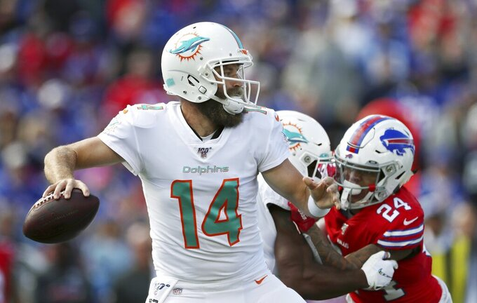 The Latest: Dolphins enjoying rare lead in Buffalo