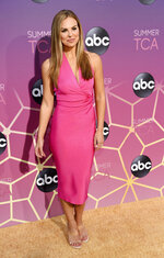 FILE - In this Monday, Aug. 5, 2019 file photo, Hannah Brown poses at the ABC Television Critics Association Summer Press Tour All-Star Party at Soho House, in West Hollywood, Calif. Brown of