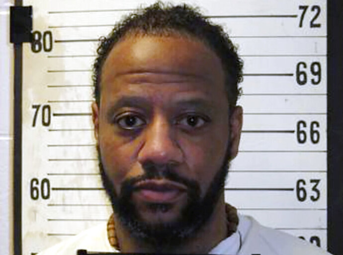 FILE - This file photo provided by Tennessee Department of Correction shows Pervis Payne.   An attorney for Payne says DNA evidence belonging to the Tennessee death row inmate has been found on part of a knife used in the slayings of a mother and daughter 33 years ago, but DNA from an unknown man also was found on the murder weapon. Attorney Kelley Henry presented a report on DNA tests on the knife and other evidence ordered by Shelby County Criminal Court Judge Paula Skahan in September 2020.  (Tennessee Department of Correction via AP, File)