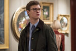 This image released by Warner Bros. Pictures shows Ansel Elgort in a scene from
