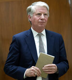 FILE - In this April 18, 2017 file photo, Manhattan District Attorney Cyrus Vance arrives to talk to reporters at Manhattan Supreme Court, in New York. President Donald Trump's tax returns can be turned over to state criminal investigators, a federal appeals court in New York ruled Monday, Nov. 4, 2019. The decision upholds a lower-court ruling rejecting Trump's lawsuit seeking to block his accountant from letting a grand jury see his tax records from 2011. Vance sought the records in a broader probe that includes payments made to buy the silence of two women who claim they had affairs with the president before the 2016 presidential election.  (AP Photo/Mary Altaffer, File)