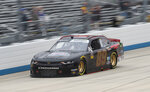 Morgan Shepherd drives during NASCAR Xfinity series qualifying, Saturday, May 4, 2019, at Dover International Speedway in Dover, Del. (AP Photo/Jason Minto)