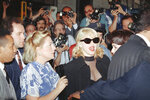 "FILE - In this June 25, 1992, file photo, Madonna arrives at the Ziegfeld Theater for the opening of the film ""A League Of Their Own"" in New York. The Associated Press has compiled a list of the best sports movies ever made — a one-of-a-kind AP Top 25. ""A League of Their Own"" checked in at No. 10. (AP Photo/Luis Ribeiro, File)"