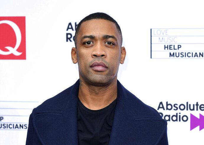 FILE - In this file photo Oct. 18, 2017, grime music artist Wiley during an event in London. British Police are investigating after a stream of anti-Semitic comments were posted on Wiley's Instagram and Twitter accounts, Wiley's management company have dropped the artist, and twitter have banned him for seven days after posts Friday and Saturday July 25, 2020.  (Ian West/PA via AP)