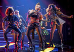This image released by Boneau/Bryan Brown shows Brittney Mack, center, during a performance of